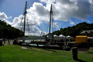 Cotehele Quay looking across to the food fair