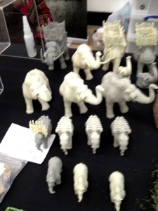 resin mammoth herd