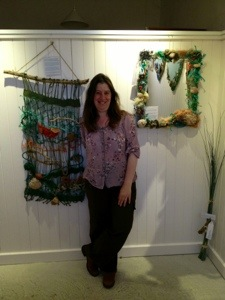 Lesley with her exhibition