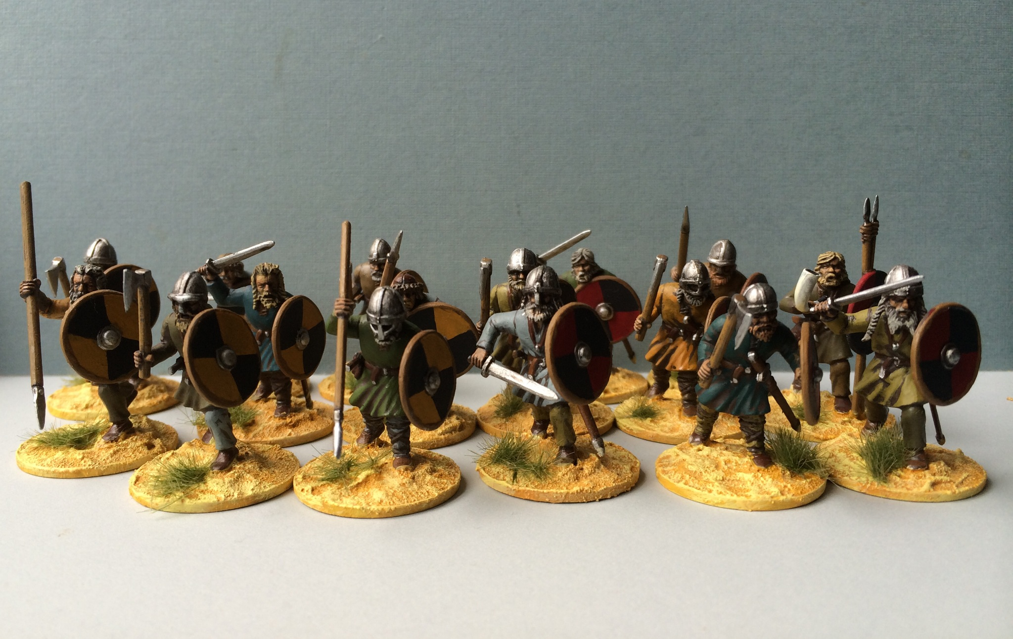 Two groups of basic warriors