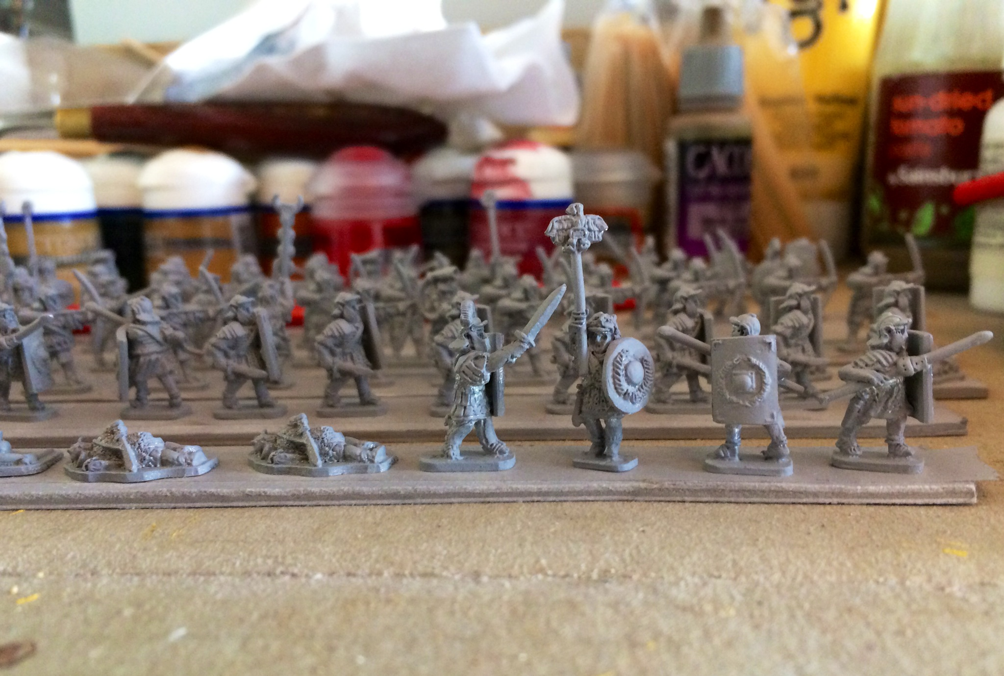 Peter Pig Romans undercoated ready for painting