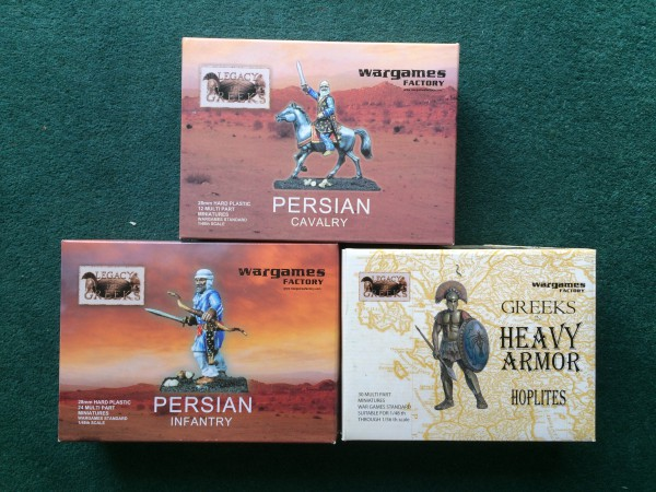 Persian and Greek Wargames Factory boxes