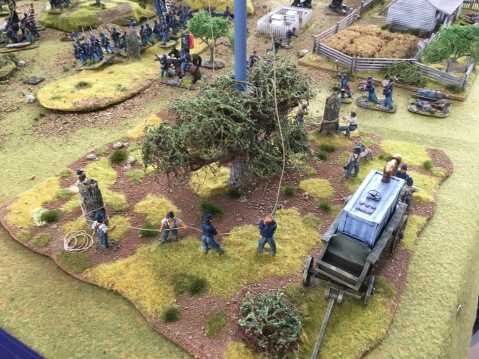 ACW game with balloon wranglers and band to the fore