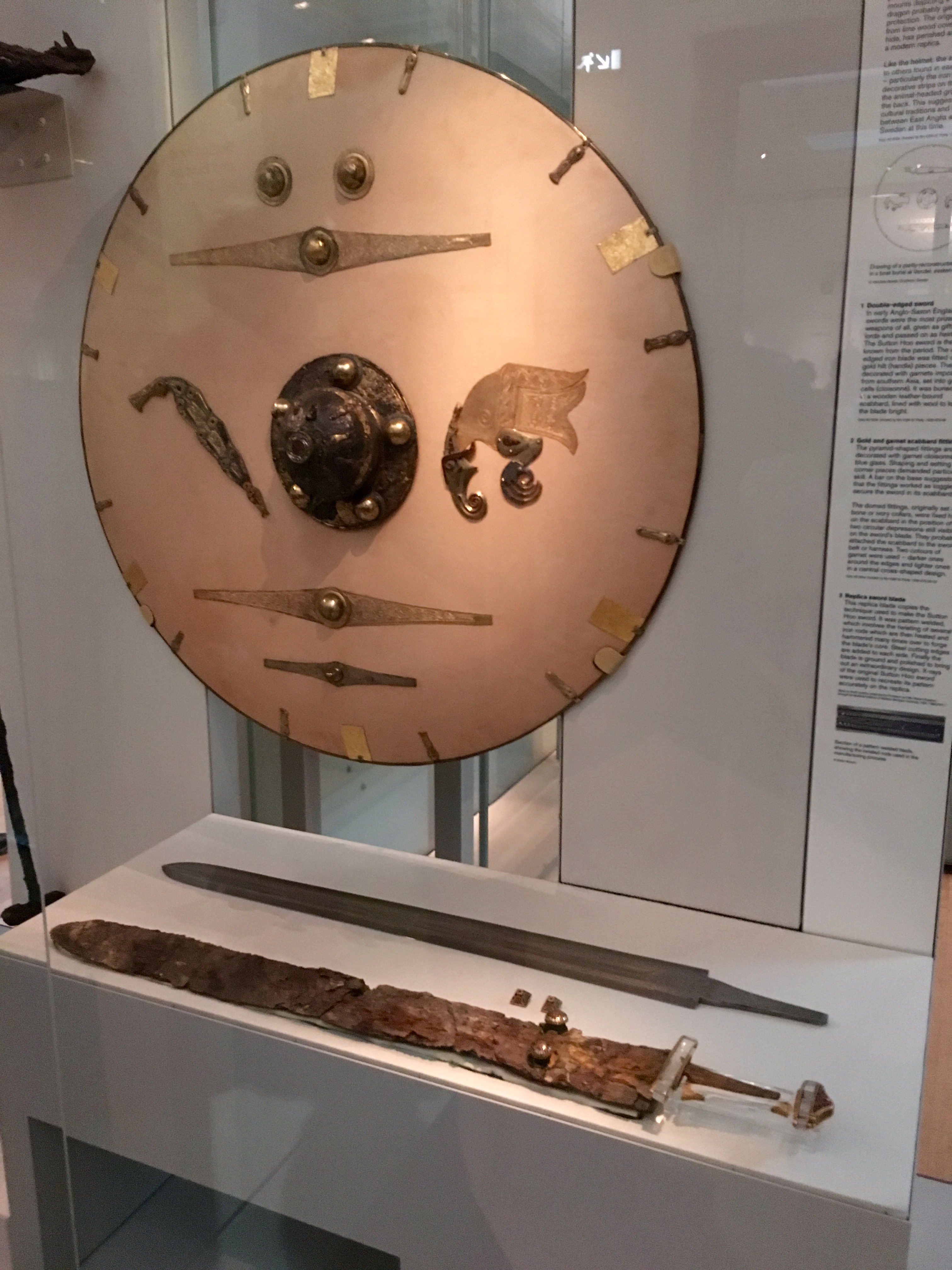 Shield and swords display