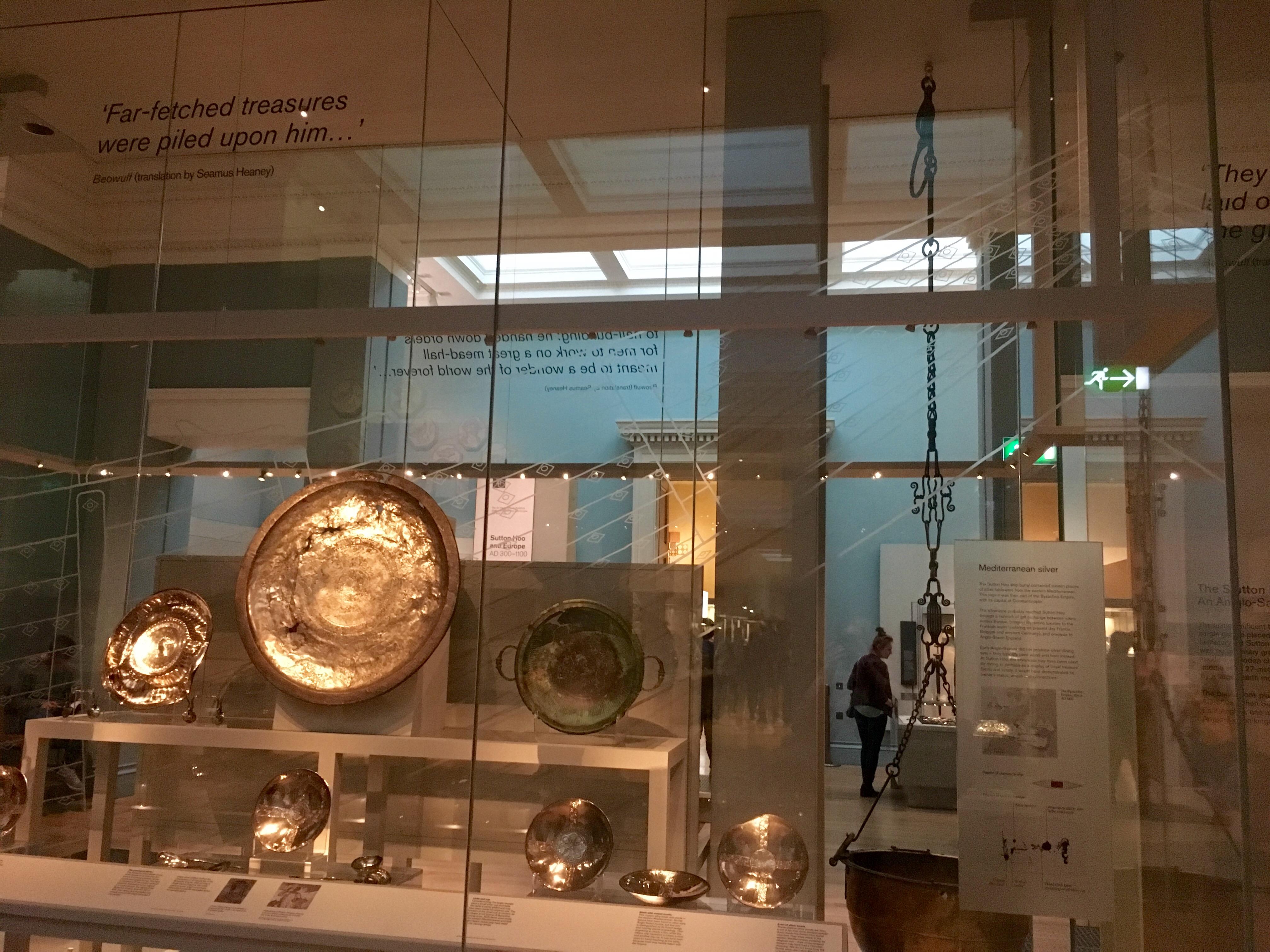 Sutton Hoo display case