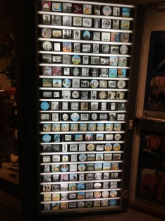 Display of Illuminated magic lantern slides