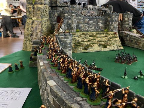 The elves in the siege of Helms Deep game
