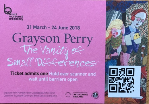 Photo of my ticket from Grayson Perry exhibition