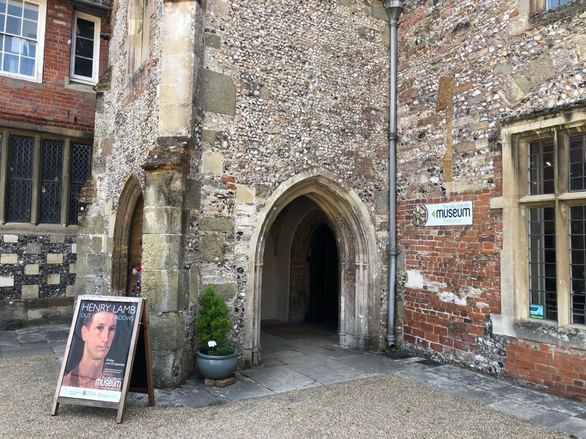 Henry Lamb sign at Salisbury Museum
