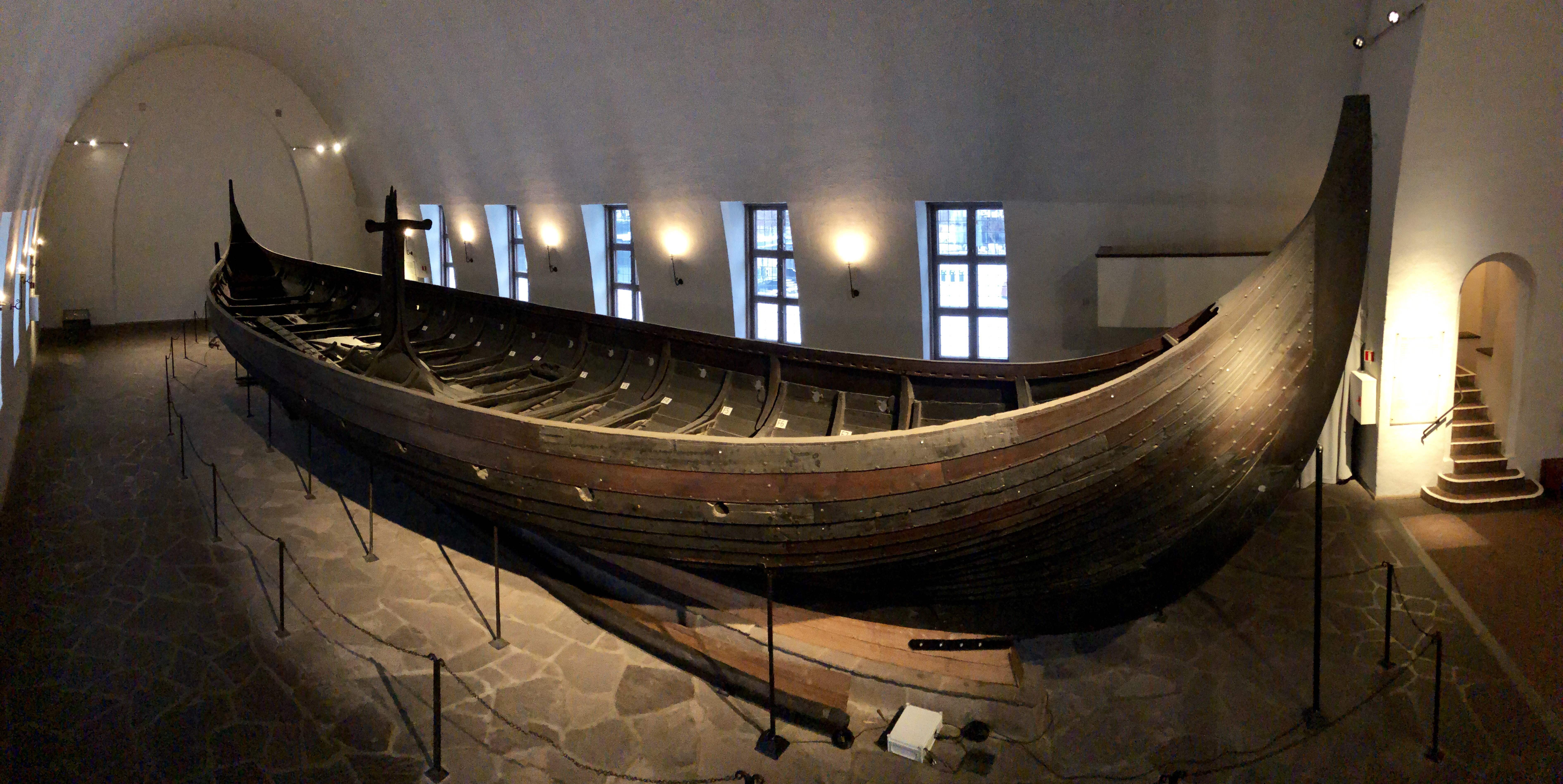Photo of the Gokstad ship from above