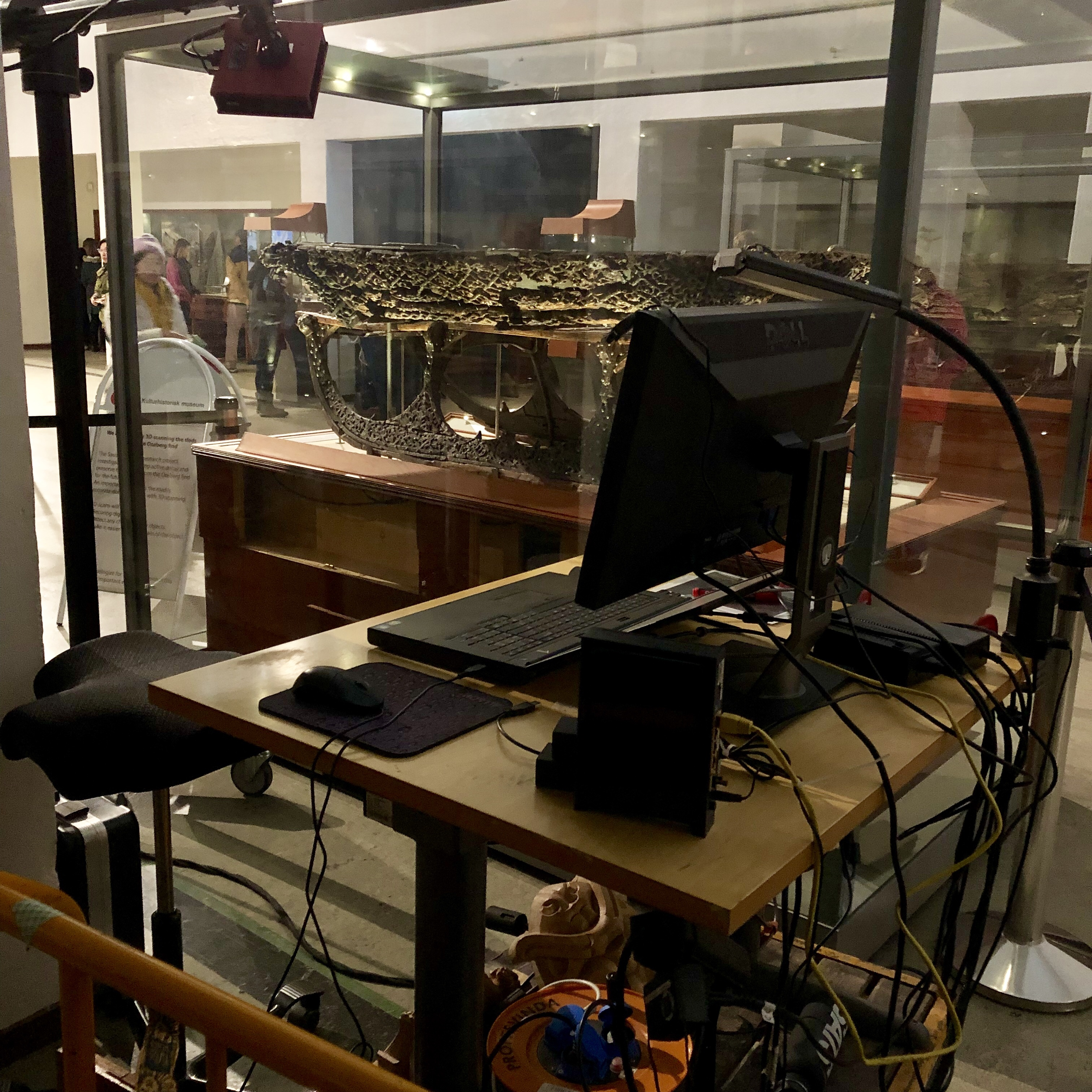 Photo of the 3D scanning to help plan conservation