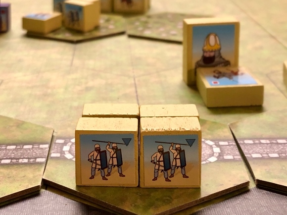 CandC Sassanid infantry blocks on the board